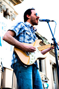 Javier Mendoza performs live at the Missouri History Museum as part of a summer concert series, Twilight Tuesdays.