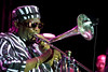 Wayne Henderson plays the trombone at the 23rd Annual Long Beach Jazz Festival on Friday, August 13, 2010<br /> (AP Photo/Earl Gibson III)