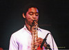 Branford Marsalis Photo performing with Art Blakey at The Atlantic City Jazz Festival June 1979 - From 35mm Film