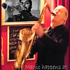 Magic happens at Tango y Vinos.<br /> Bob Rockwell, sax and Che Guevara, tenorsax at Tango y Vinos bar, Copenhagen.<br /> Manipulated digital photo shot with a slow shutterspeed.