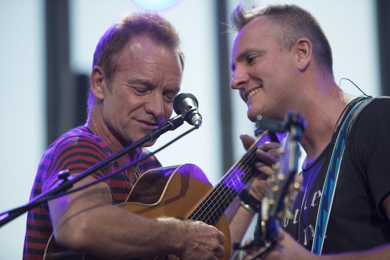 Sting and Joe Sumner at Jazz a Juan 2017