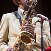 Jazz saxophonist Archie Shepp plays at Jazz à Juan on July 21st 2017