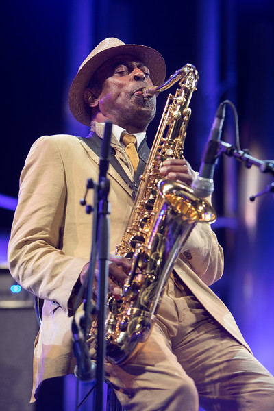 Jazz saxophonist Archie Shepp plays at Jazz à Juan on July 21st 2017