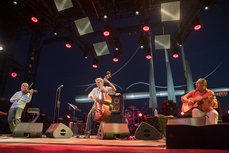 Jean Luc Ponty, Kyle Eastwood and Bireli Lagrene at Jazz à Juan 2017