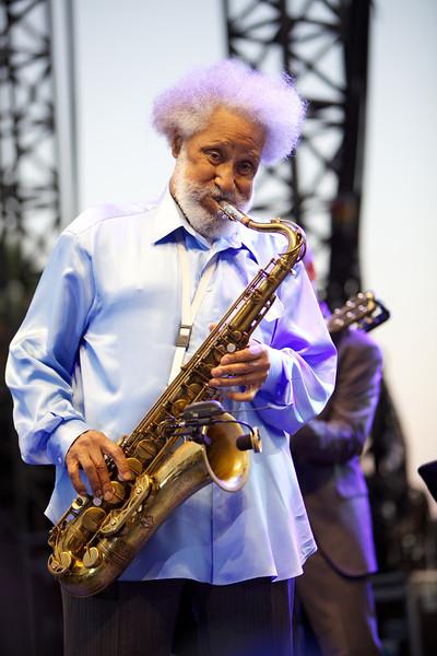 Sonny Rollins in concert at Jazz a Juan on 7/17/12
