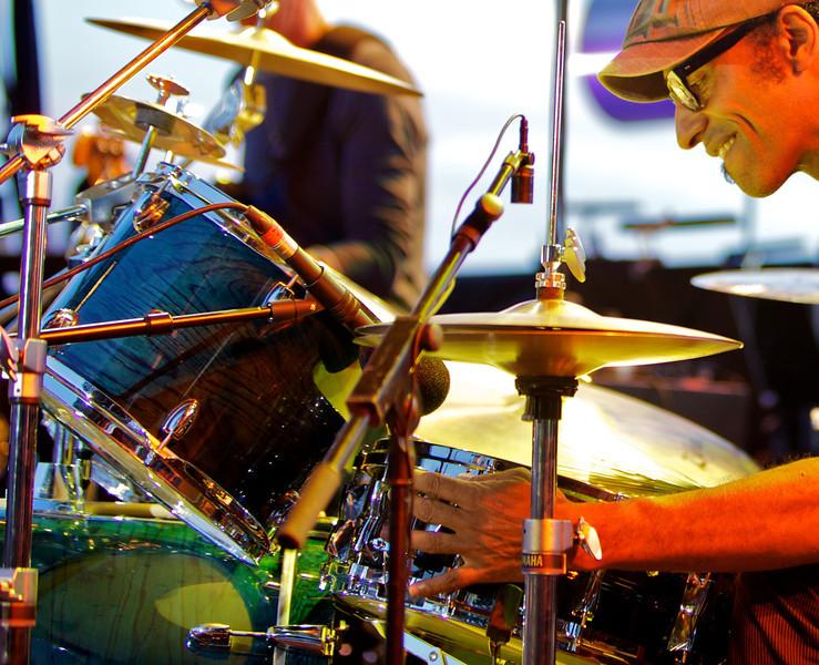 Manu Katché at Jazz à Juan 2010 5<br /> Manu Katché in concert at Jazz à Juan 2010