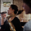 Blurring the Sax.<br /> Birgitte Soojin: vocal and Jakob Dinesen: sax at P.H. Caffen, Copenhagen.<br /> Digital photo with texture layer.