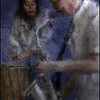 "Easy Touch, Full Breath. Marilyn Mazur: percussion and Lotte Anker: sax at <a href=""https://www.facebook.com/Cafecharlottenborg""target=""_blank"">Charlottenborg</a>, Copenhagen. Composite photo painted with digital impressionist chalk brush in Corel Painter + texture layers."