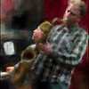 "Rising Sax. Fredrik Lundin: sax and Jan Kaspersen: piano at <a href=""http://www.jazzklubben.dk/jazzcup.asp""target=""_blank"">Jazz Cup</a>, Copenhagen. Photo painted with digital chalk brush in Corel Painter + texture layers."