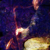Sax in Blue.<br /> Scott Hamilton: sax at JazzCup, Copenhagen.<br /> Photo painted with  digital pencil brush in Dynamic Auto Painter.,