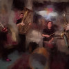"Lakris Band.<br /> Lakris Band: Rasmus ""Termo"" Lundsgaard: trumpet - Nikolaj Thyssen Dam: tuba - Mads Thorbjørn Jensen: drums - Kalle Krüger: sax at Ingolfs Kaffebar Copenhagen.<br /> Photo painted with digital chalk brush in Corel Painter + texture layer."