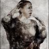 Raise.<br /> Lillian Boutté: vocal at Huset, Copenhagen.<br /> Photo painted with digital scrtch pen  in PostworkShop + texture layers.