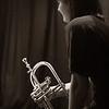 "Rest,sepia.<br /> Trumpet: Maj Berit Guasora at ""Jazz Cup"", Copenhagen, Denmark.<br /> Digital photo toned sepia in Photoshop + grain."