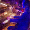 "Mood Indigo. Jacob Park: piano at <a href=""http://www.paradisejazz.dk/""target=""_blank"">Paradise Jazz</a>, Huset, Copenhagen. Photo painted with digital impressionist sargent brush in Corel Painter + texture layers."