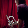 "Rest, color.<br /> Trumpet: Maj Berit Guassora at ""Jazz Cup"", Copenhagen, Denmark.<br /> Digital color photo."