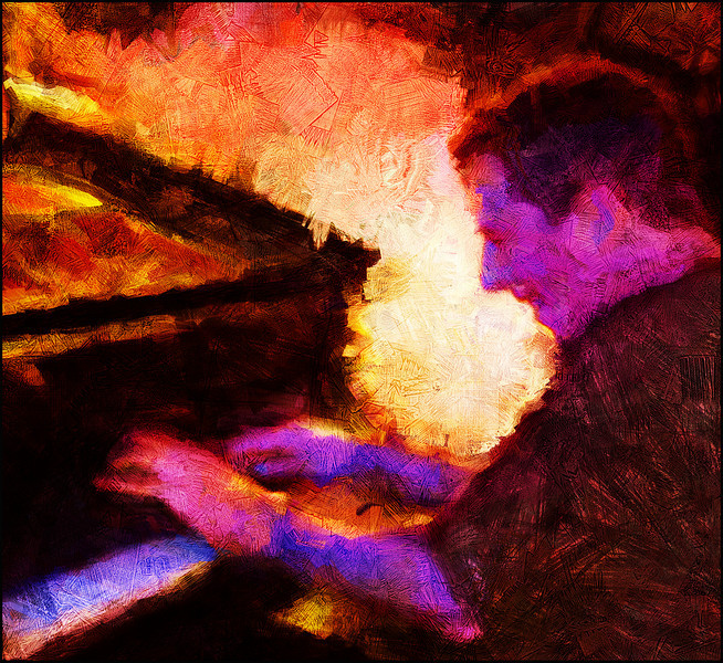 Burning the Piano.<br /> Carsten Dahl: piano at Paradise Jazz Club, Copenhagen.<br /> Photo painted with digital sargent brush in Corel Painter + digital pencil in Dynmamic Auto Painter + texture layer.