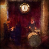 High Noon Jazz..<br /> Piano,clock and drums at Bartof Cafe, Copenhagen.