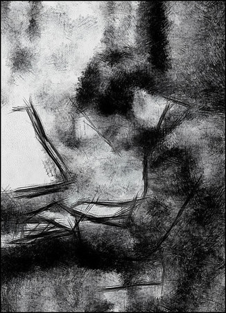 White Music.<br /> Christian Pabst: piano at Tranquebar bookstore, Copenhagen.<br /> Photo painted with digital pen brush in Dynamic Auto Painter.