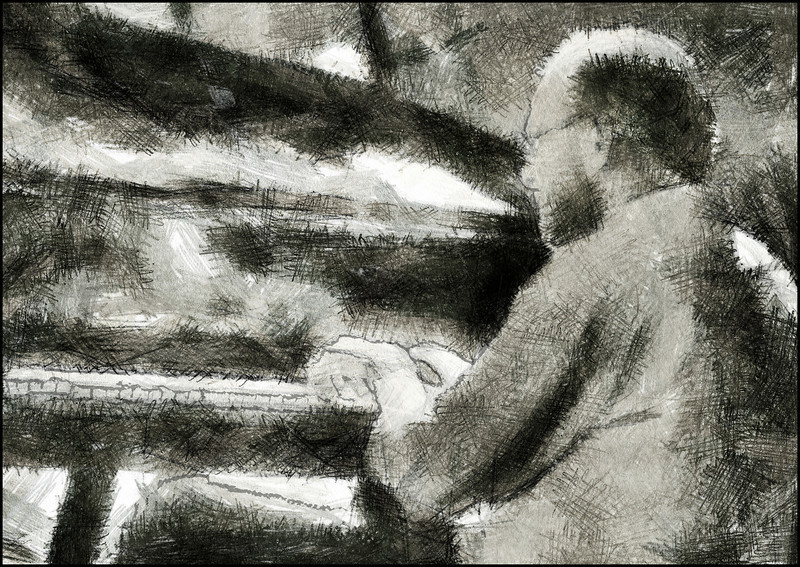 Piano Light.<br /> Søren Kristiansen: piano at Paradise Jazz Club, Huset, Copenhagen.<br /> Photo painted with digital pastels brush in Dynamic Auto Painter.
