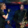 "Smooth. Malene Mortensen; vocal and Lars Møller : sax at <a href=""http://www.paradisejazz.dk/""target=""_blank"">Paradise Jazz</a>, Huset, Copenhagen. Photo painted with watercolor brush and pencil in Corel Painter + texture layers."