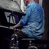 "Mr. Blue.<br /> Piano: Henrik Gunde at ""Jazz Cup"", Copenhagen, Denmark.<br /> Photo with added texture layer in Photoshop."