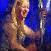 Bass Blue.<br /> Kristin Korb at Paradise Jazz, Huset, Copenhagen.<br /> Photo painted with digital sargent brush in Dynamic Auto Painter + texture layers.