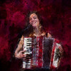 Burning Accordeon.<br /> Sussi Hyldgaard at Jazz Cup, Copenhagen.<br /> Photo painted with digital impressionist chalk brush in Corel Painter + texture layers.