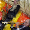 "Right Angle. Christina Dahl: sax and  Jens Søndergård: soprano sax of <a href=""http://www.bigapplebigband.dk/""target=""_blank"">Big Apple Big Band</a>, Copenhagen. Concert arranged in a big tent by <a href=""http://gottfried.dk/""target=""_blank"">i. k. Gottfried</a> wind instruments. Photo painted with digital sargent brush in Corel Painter + texture layers."