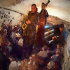 "Big Band.<br /> Tomas Franck: sax, Ben Besiakov: piano and Lennart Ginman: bass at ""Sofiekælderen"", Copenhagen.<br /> Photo painted with digital chalk brush in Corel Painter + texture layers."
