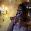 "Pearl Singer. Deborah Herbert at <a href=""http://www.facebook.com/pages/KIND-OF-BLUE/115173875160000""target=""_blank"">Kind of Blue bar</a>, Copenhagen. Photo painted with digital chalk brush in Corel Painter + texture layers."
