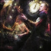 Bass Beat.<br /> Marco Diallo, drums and Jakob Christensen, bass at Barto, Copenhagen.<br /> Photo painted with digital impressionist chalk brush in Corel Painter + texture layers.