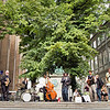 Green Concert.<br /> During the street parade, the Orion Brass Band met the the Reverend Shine Snake Oil Co giving an open air concert. Immediately Claudius Pratt arranged an improvised gig. - That´s basic jazz..<br /> 2013 Copenhagen Jazz Festival.
