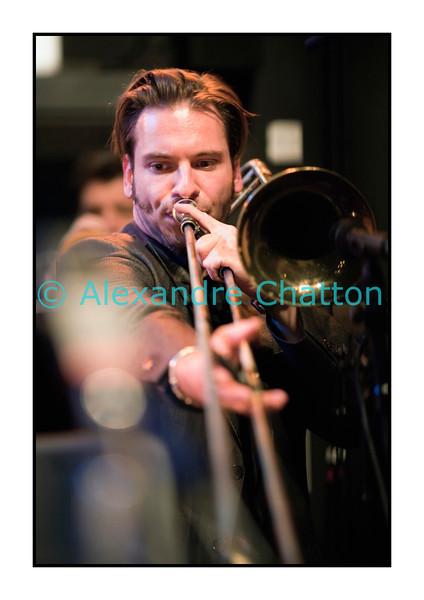 Le tromboniste suisse René Mosele.