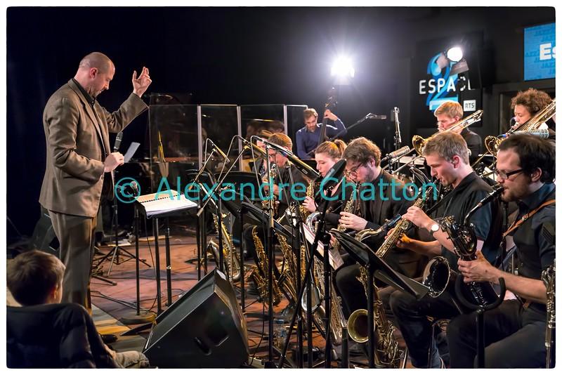 Le big band de la Haute Ecole de Lucerne en concert.