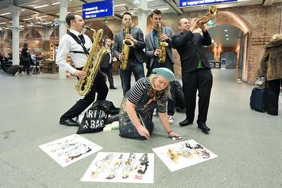 Brass Jaw perform at St Pancras International Station - 18/11/10