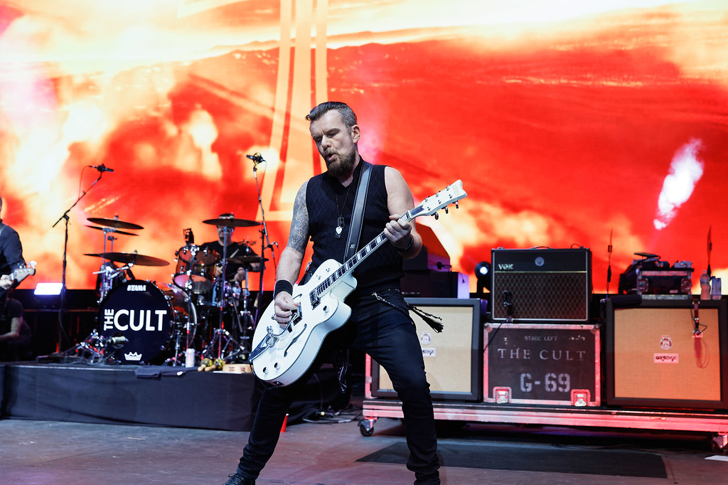 . The Cult  live at Michigan Lottery Amphitheatre on 7-24-2018..  Photo credit: Ken Settle