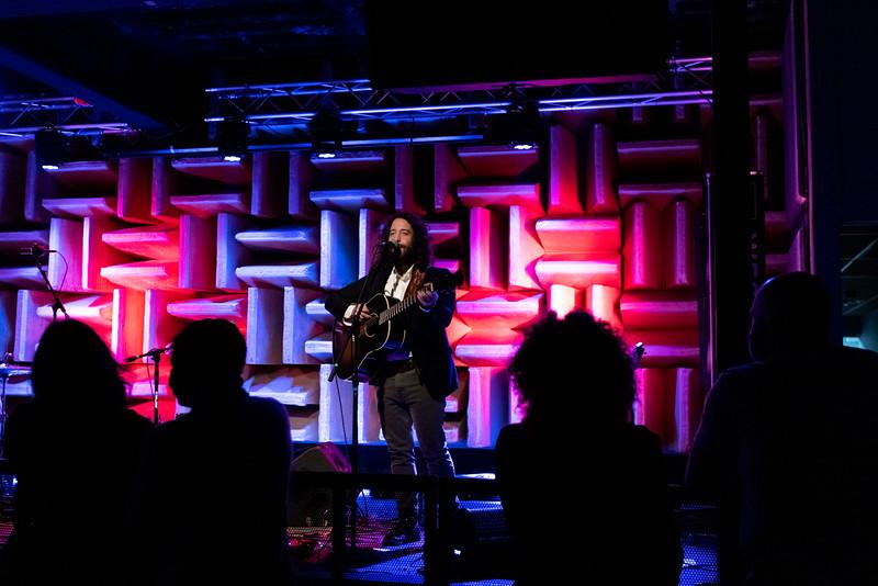 Jeff Kelly at the HI-FI on February 27, 2021. Photo by Tony Vasquez