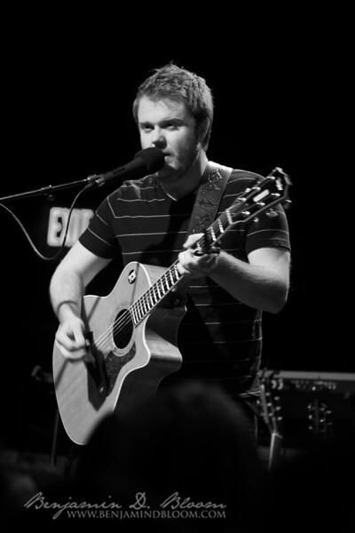 Taylor Carson warms up the crowd in the Higher Ground Showcase Lounge on April 8, 2010.  Carson opened for a nearly sold out Jer Coons.