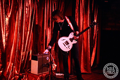 Jesse Hughes getting ready to play another song during an impromptu solo set at Melbourne's home of rock'n'roll Cherry bar.