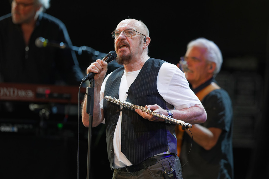 . Jethro Tull  live at MI. Lottery Amphitheatre on 7/1/2018   Photo credit:   Ken Settle