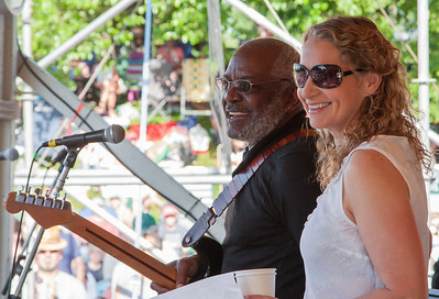 Joan Osborne and The Holmes Brothers at the Clearwater Festival.
