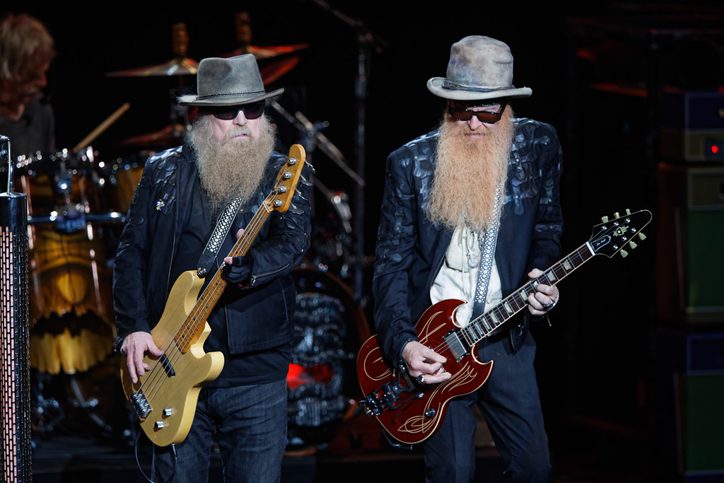 . ZZ Top live at DTE on 6-27-2018.  Photo credit: Ken Settle