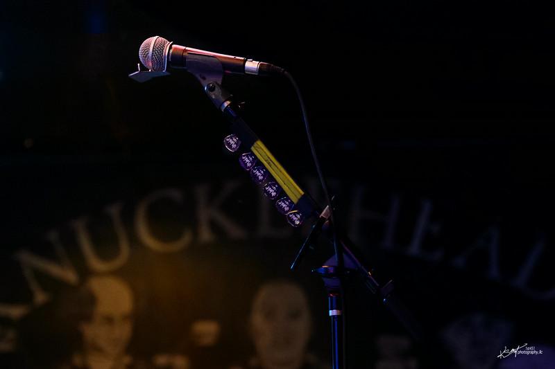 John's mic and Jim Dunlop guitar picks