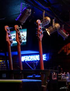 Richard Cousins' bass guitars
