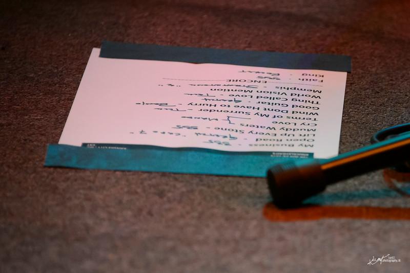 Doug Lancio's set and guitar list