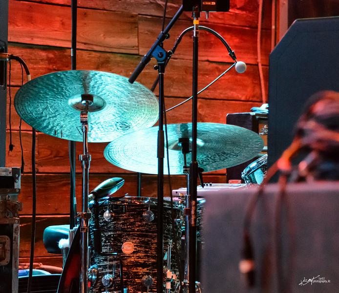 Ken Blevins drum set