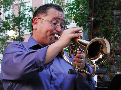 John Worley on flugel horn at Santa Row, San Jose, CA