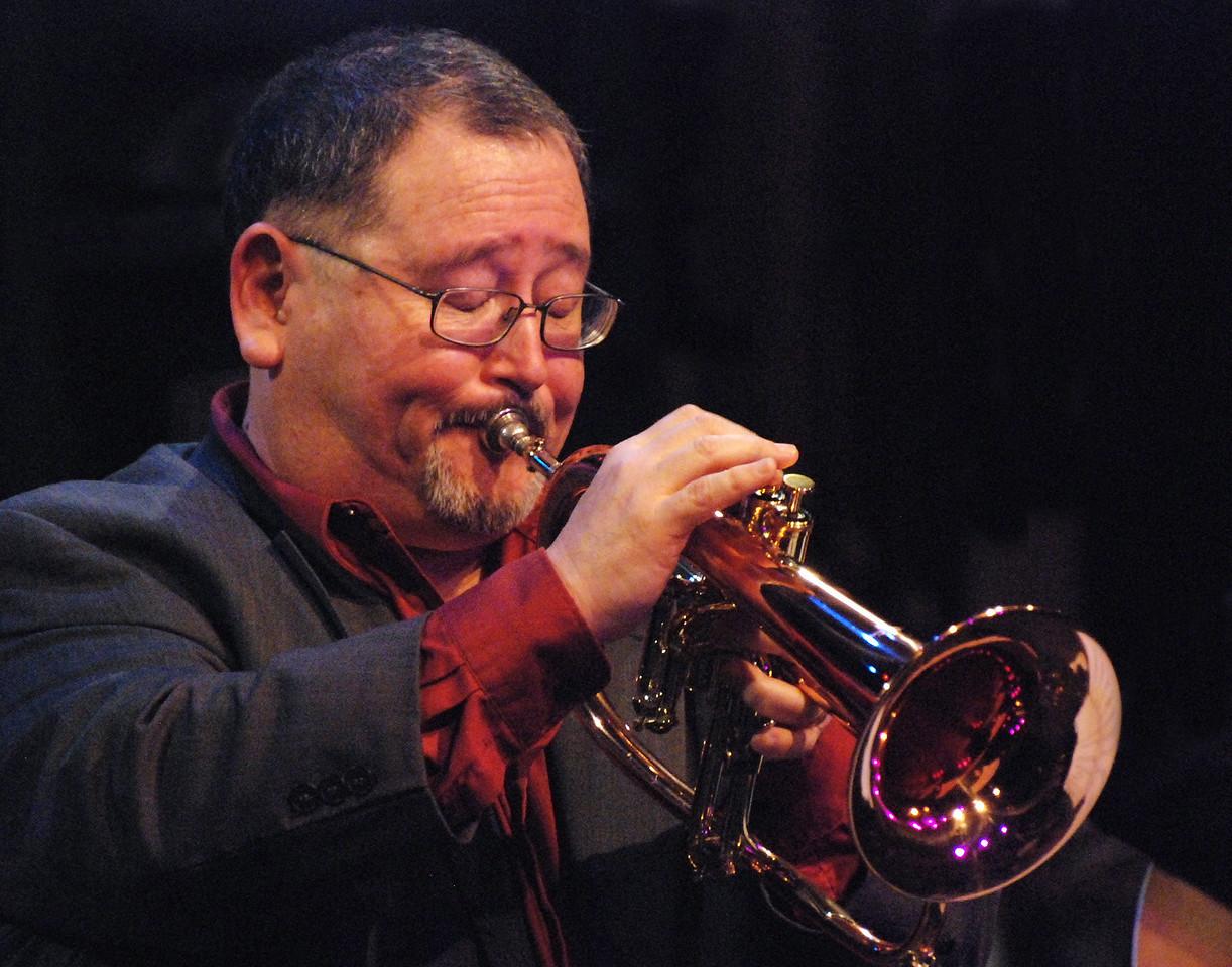 John Worley on flugel horn at City Lights Theatre in San Jose, CA