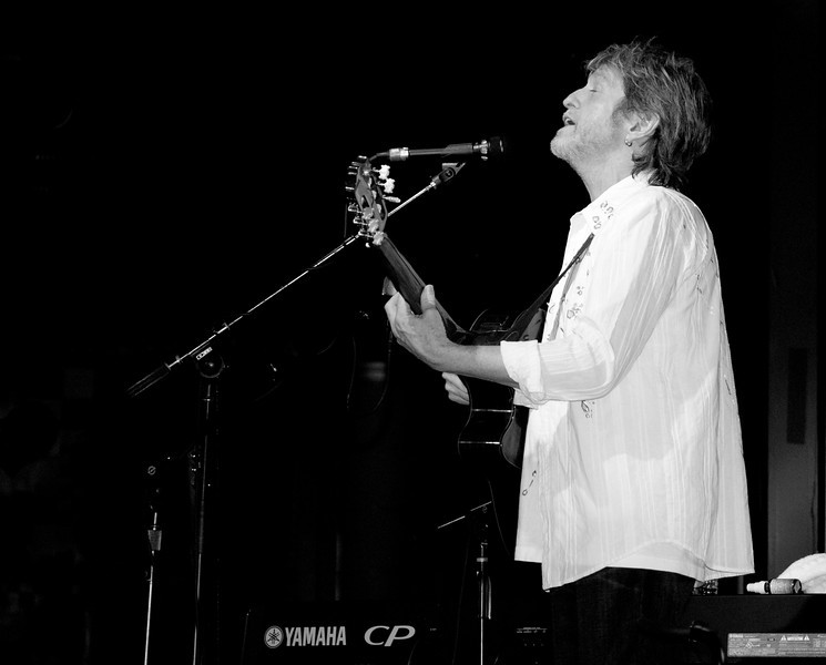 Jon Anderson live on stage at BB Kings in Manhattan in 2010.