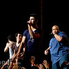 The Jonas Brothers perform live at the First Midwest Bank Amphitheater in Tinley Park, IL on 08/07/10